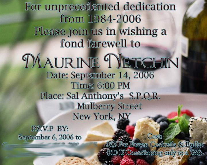 send off lunch invitation